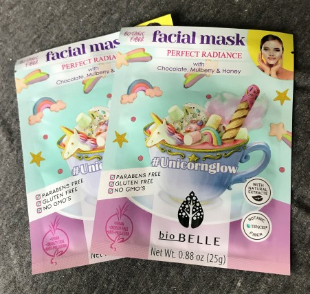 biobelle unicorn glow sheet mask