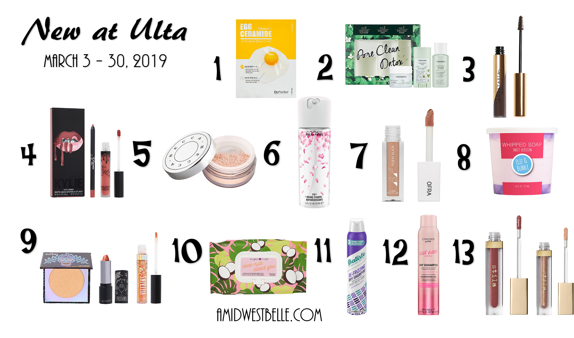 New At Ulta - March 3 to March 30, 2019 - A Midwest Belle