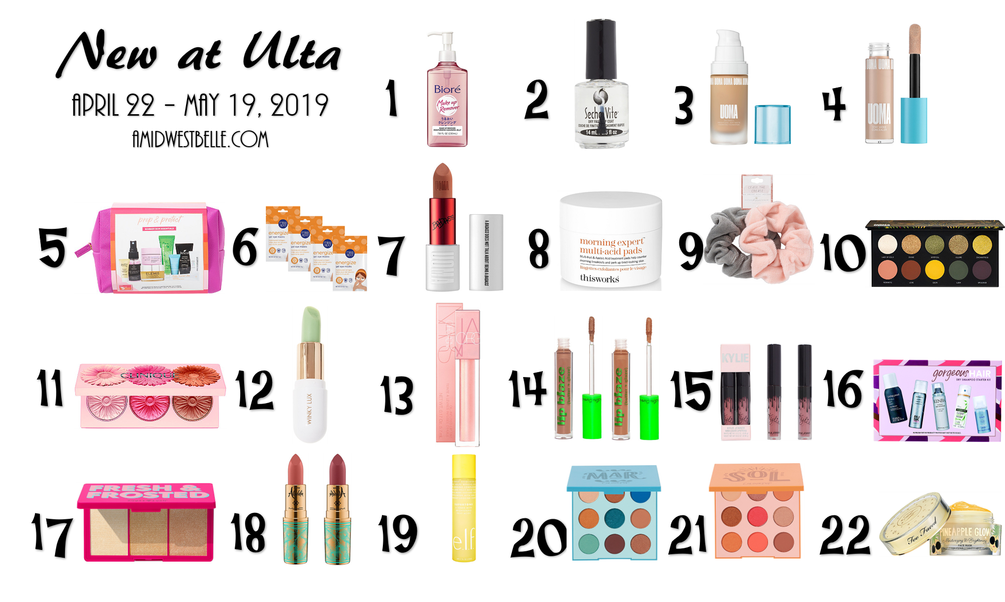New at Ulta | April 22 - May 19, 2019 - A Midwest Belle