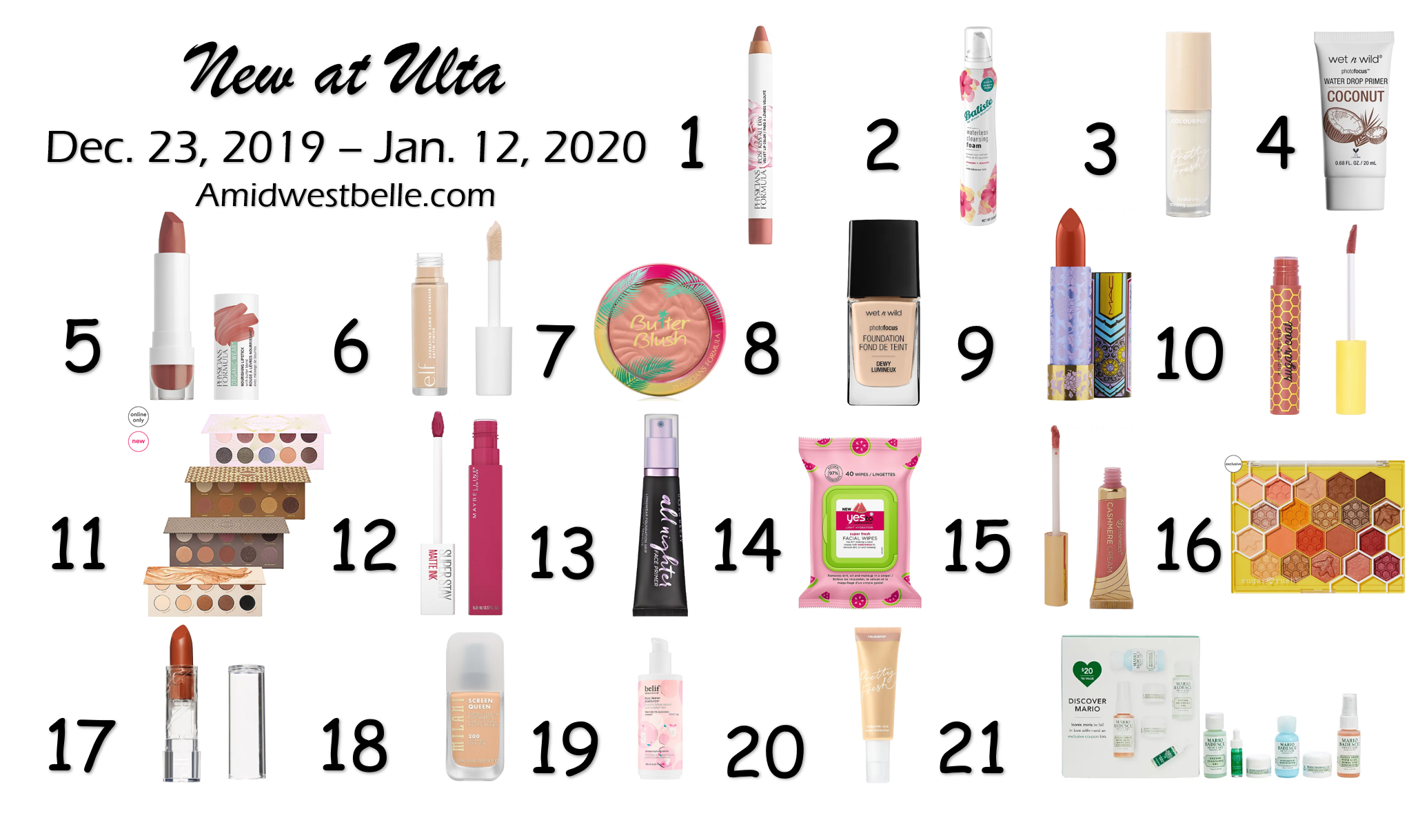 New at Ulta | December 23, 2019 - January 12, 2020 - A Midwest Belle